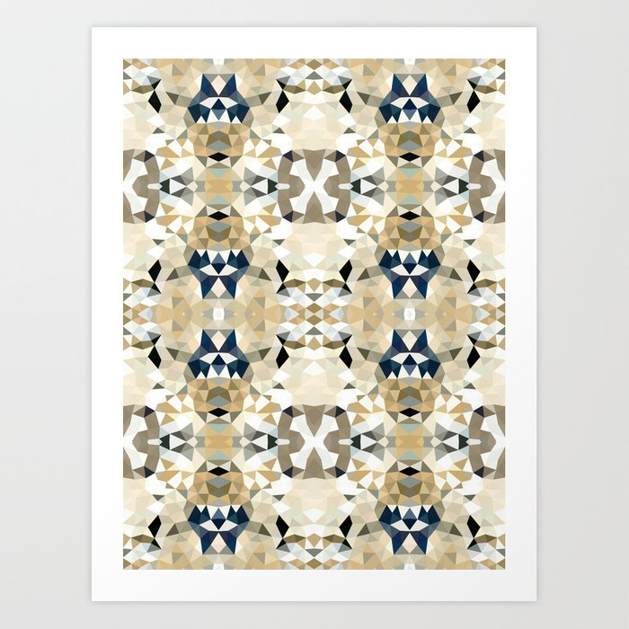 Neutral Tribal Art Print