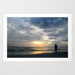 Walk into the sunset.. Art Print