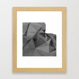 Concrete Polygonal texture Framed Art Print