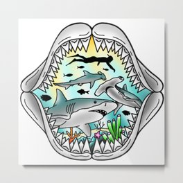 Shark Swim Metal Print
