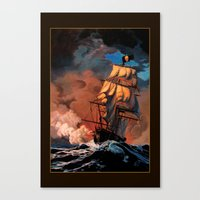pirate ship Canvas Prints featuring Pirate Ship by Whelan Galleries