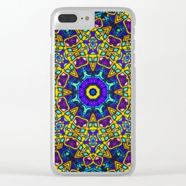 Persian kaleidoscopic Mosaic G522 Clear iPhone Case