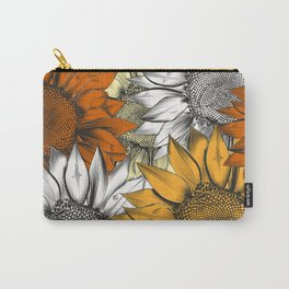 Beautiful pattern from hand drawn sunflowers Carry-All Pouch