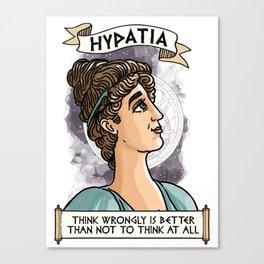 Hypatia of Alexandria Canvas Print