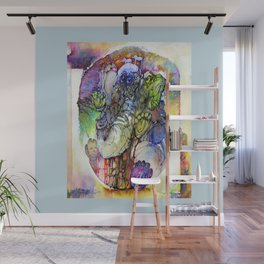 Psychedelic elephant Wall Mural