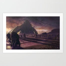Cthulhu fhtagn no more Art Print