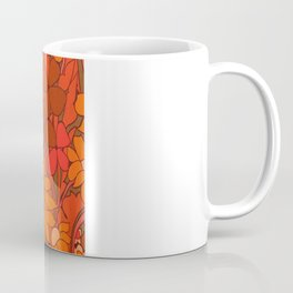 Vintage floral linen fabric  Coffee Mug
