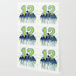 Seattle 12th Man Fan Art Seattle Space Needle Wallpaper