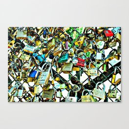 Lover's Locks Canvas Print