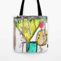 martini Tote Bags featuring Dirty Martini by Ingrid Padilla