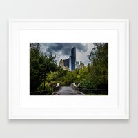 central park Framed Art Prints featuring Central Park by liberthine01