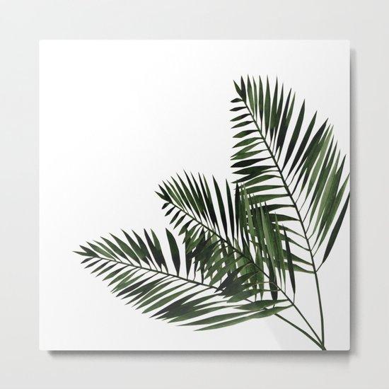 Tropical Exotic Palm Leaves I Metal Print