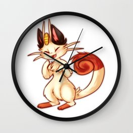 Meowth Wall Clock