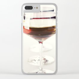 Three glass of wine (white, red and rose) over white Clear iPhone Case