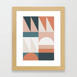 Cirque 05 Abstract Geometric Framed Art Print