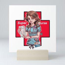 Super Nurse Mini Art Print