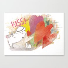 Who you gonna to KISS ? Canvas Print