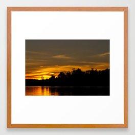 Autumn Sunset Framed Art Print