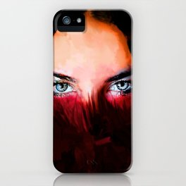 Diamonds In The Red iPhone Case