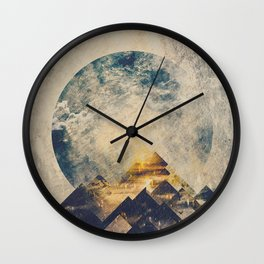 One mountain at a time Wall Clock
