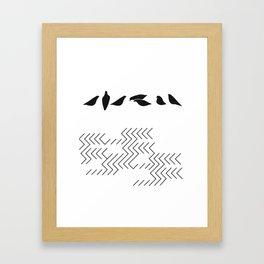 urban birds Framed Art Print