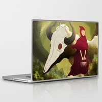 red hood Laptop & iPad Skins featuring red hood by R,oh