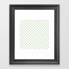 Fun Dots blue green Framed Art Print