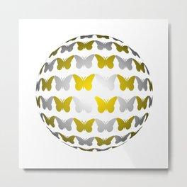 Ball filigrane butterfly 3 Metal Print