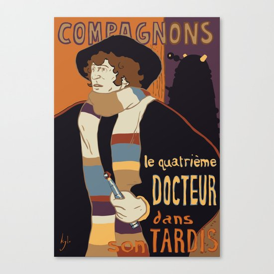 Le Fourth Doctor Canvas Print