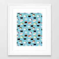 sushi Framed Art Prints featuring Sushi! by Sara Showalter