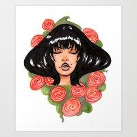Chrysanthemum Marker Drawing by Grimmiechan Art Print