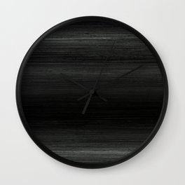 Algorithmic Linen Pure Black and Silver Wall Clock