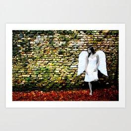 """Angel Among Us, image 3"" B&W Angel Art Print"