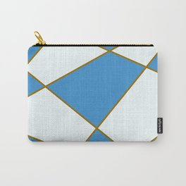 Geometric abstract - blue and brown. Carry-All Pouch