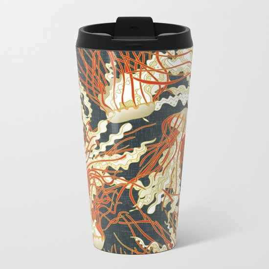 jellyfish slate Metal Travel Mug