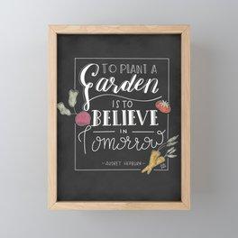 To Grow a Garden Framed Mini Art Print