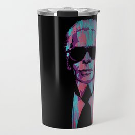 Karl Lagerfeld Portrait Pop Travel Mug