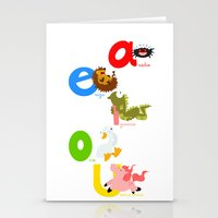 spanish Stationery Cards featuring Vowels (spanish) by Alapapaju