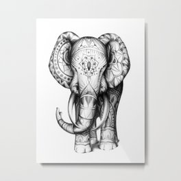 Ornate elephant Metal Print