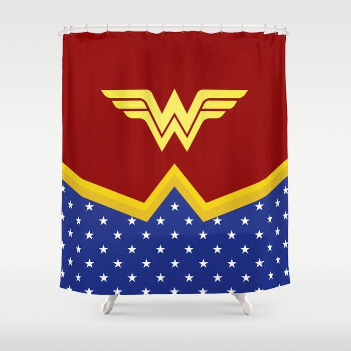 Wonder Of Woman - Superhero Shower Curtain by alabasta | Society6