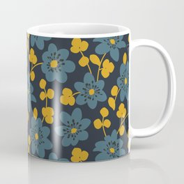 Floral pattern. Hepatica flowers Coffee Mug