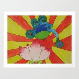 Lotus B Art Print