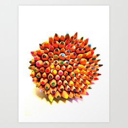 2 Many Pencils Art Print