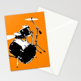 Drumkit Silhouette (frontview) Stationery Cards