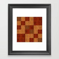 Bamboo patchwork Framed Art Print