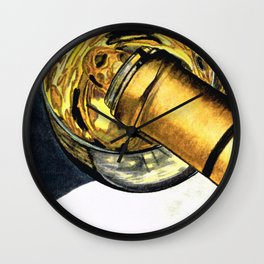 White Wine Art - Lap Of Luxury - By Sharon Cummings Wall Clock