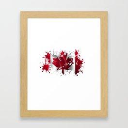 Canadian Splatter Framed Art Print