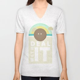 Deal With It! Unisex V-Neck