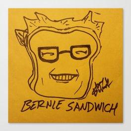 Bernie Sandwich Canvas Print