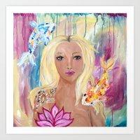 Empowerment Fish and Girl Art Print